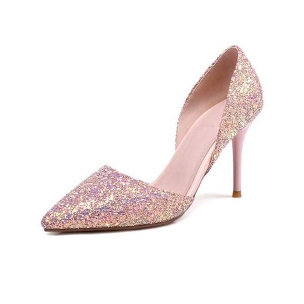 Women's Sparkling Glitter Stiletto Heel Pumps Sandals With Others