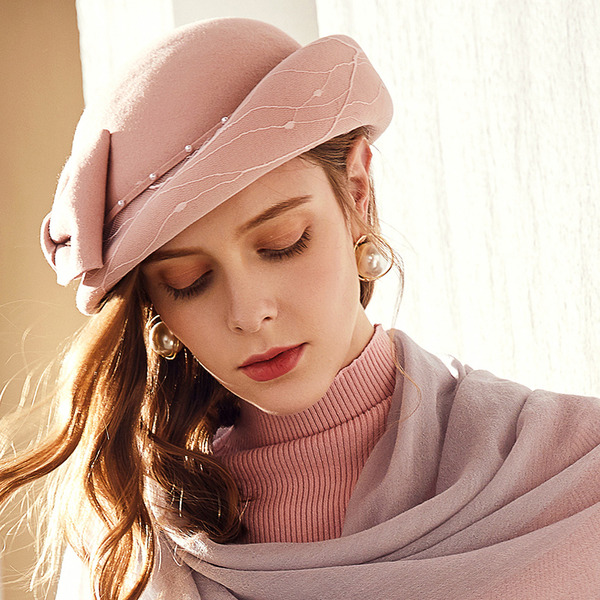 Ladies' Glamourous/Classic/Pretty Wool With Imitation Pearls Beret Hats