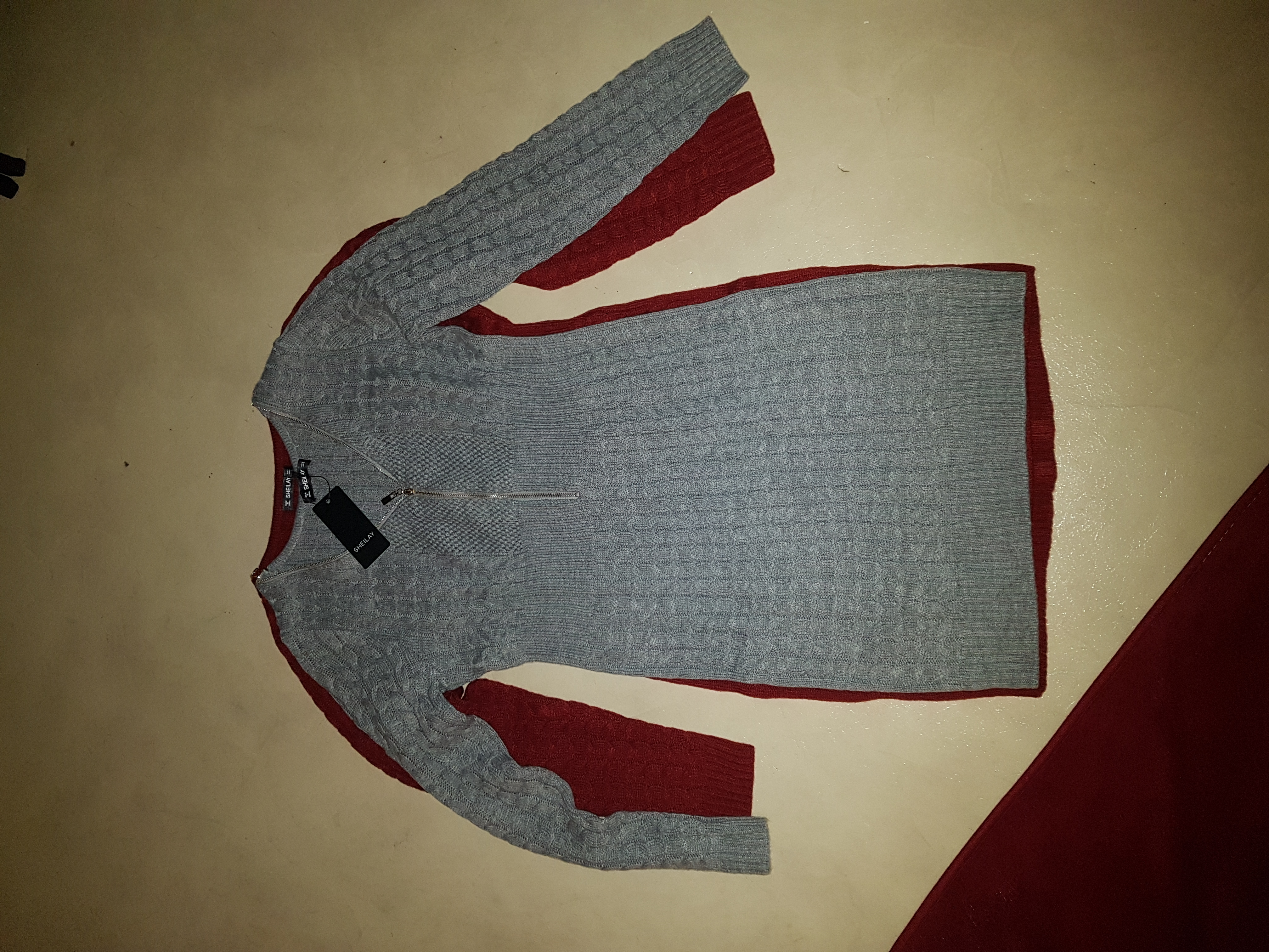 V-Neck Casual Long Tight Solid Sweaters (1002254167)