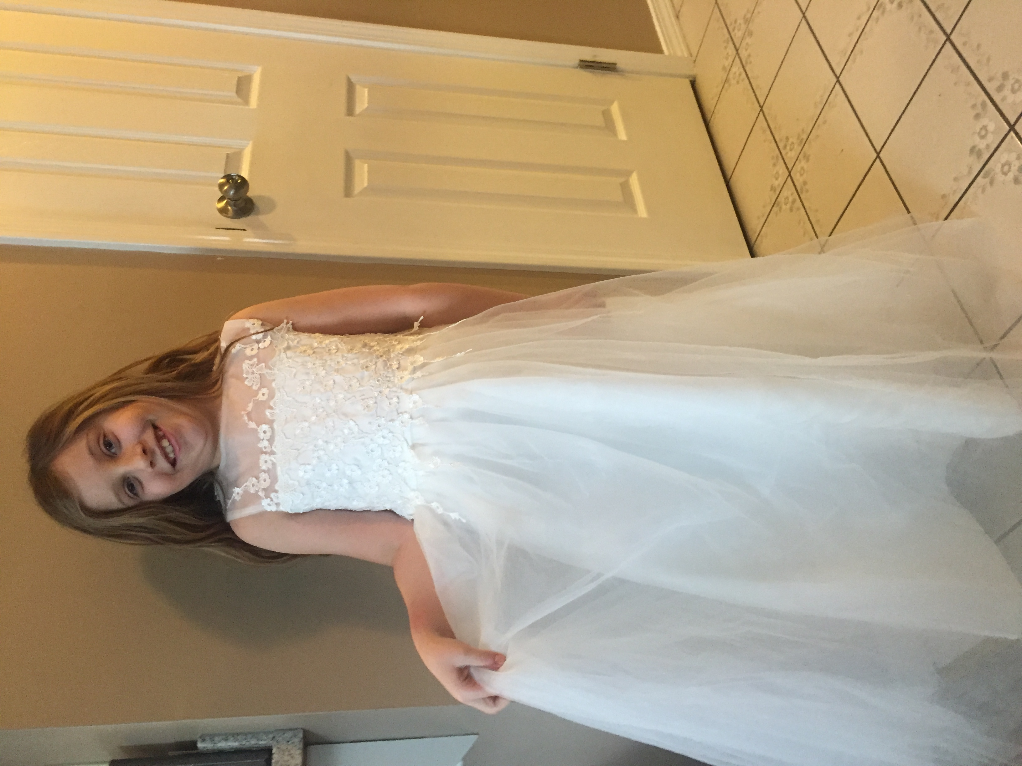 Ball Gown Ankle-length Flower Girl Dress - Satin/Tulle Sleeveless Scoop Neck With Appliques
