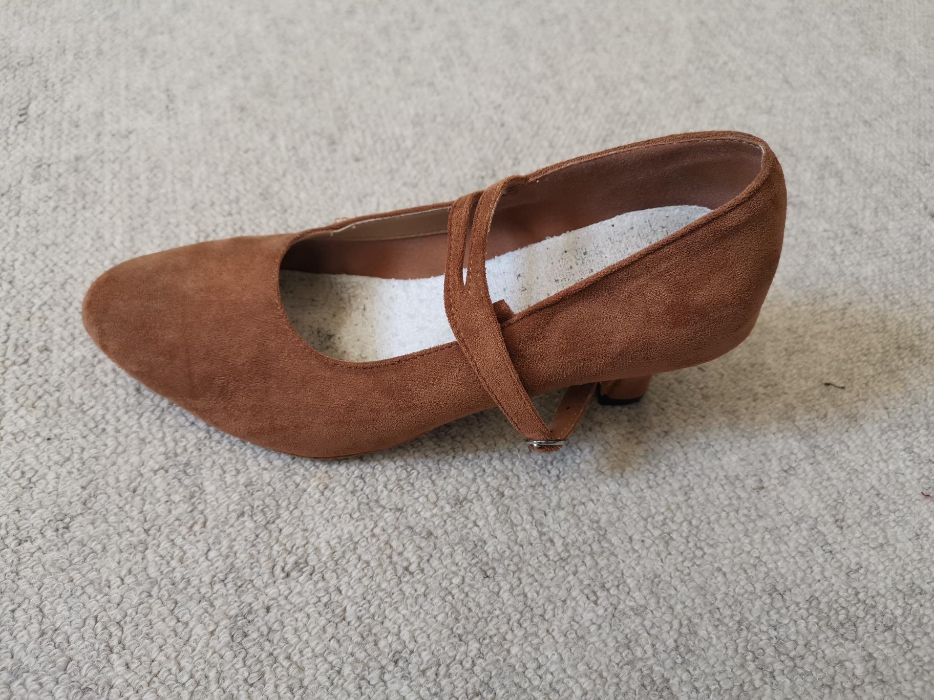 Femmes Suède Talons Latin Chaussures de danse (053200537)